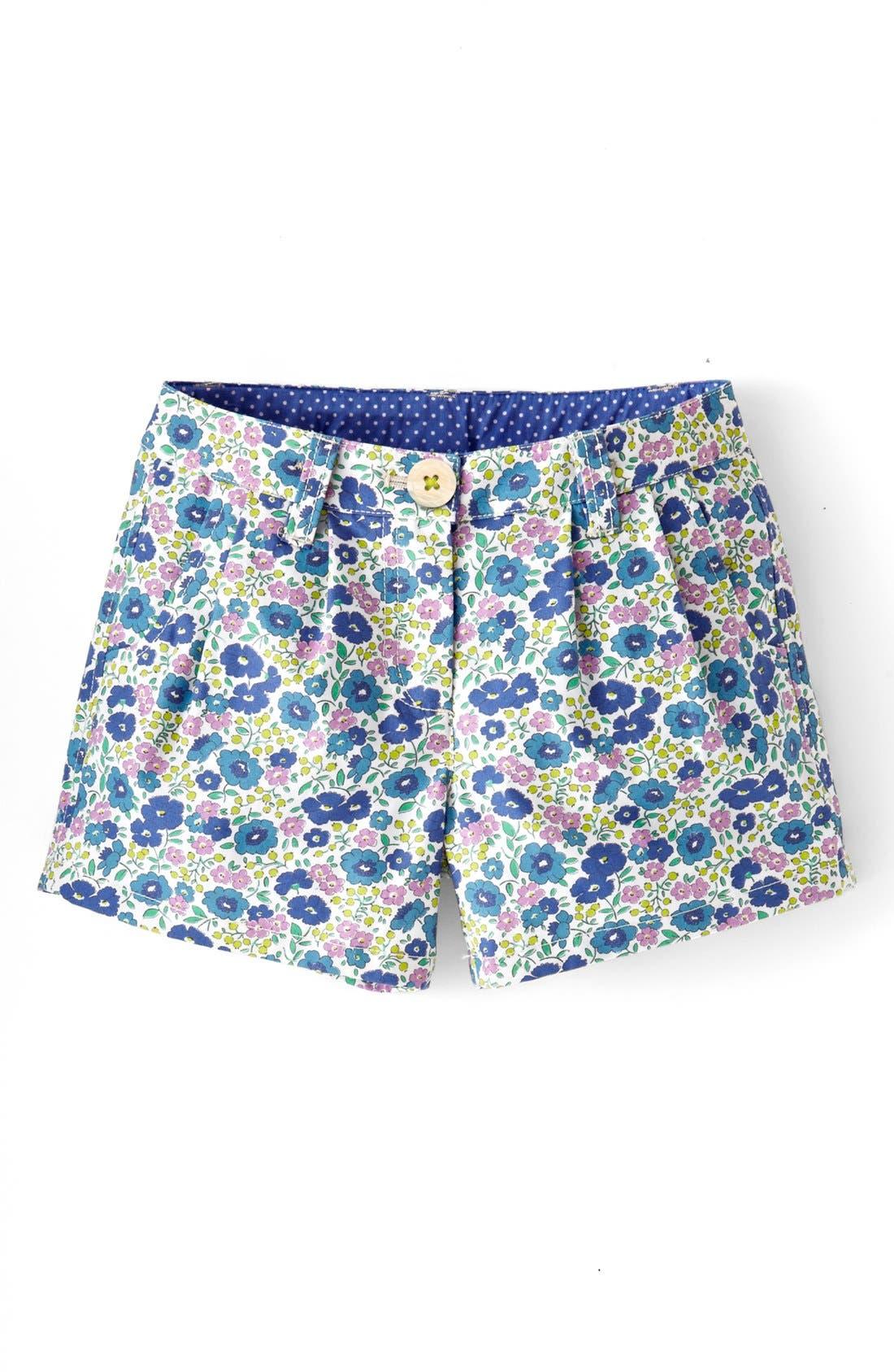 Main Image - Mini Boden 'Amalfi' Cotton Shorts (Little Girls & Big Girls)
