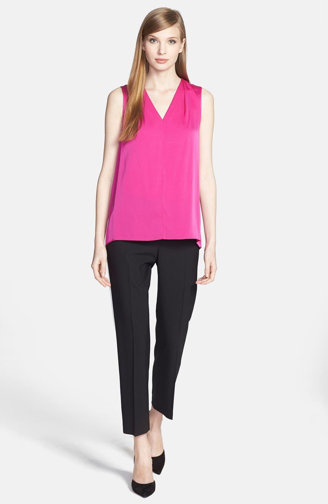 Alternate Image 4  - Classiques Entier® Side Stripe Stretch Wool Ankle Pants