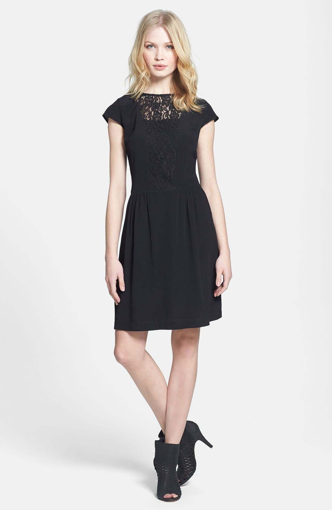 Alternate Image 3  - MM Couture Lace Inset Fit & Flare Dress