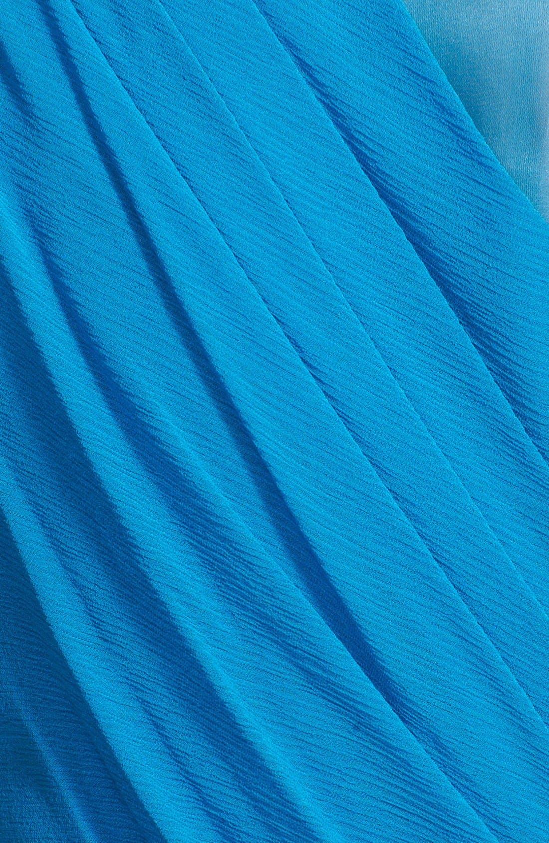 Alternate Image 3  - St. John Collection Organza Inset Drape Bodice Silk Georgette Gown