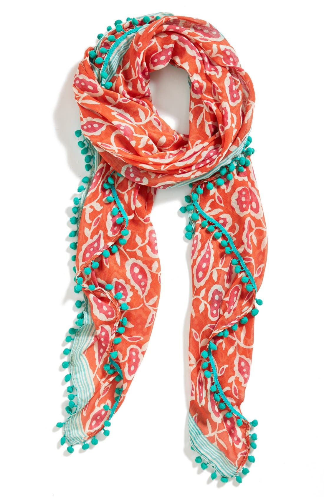 Alternate Image 1 Selected - Halogen® 'Blossom Stripe' Scarf