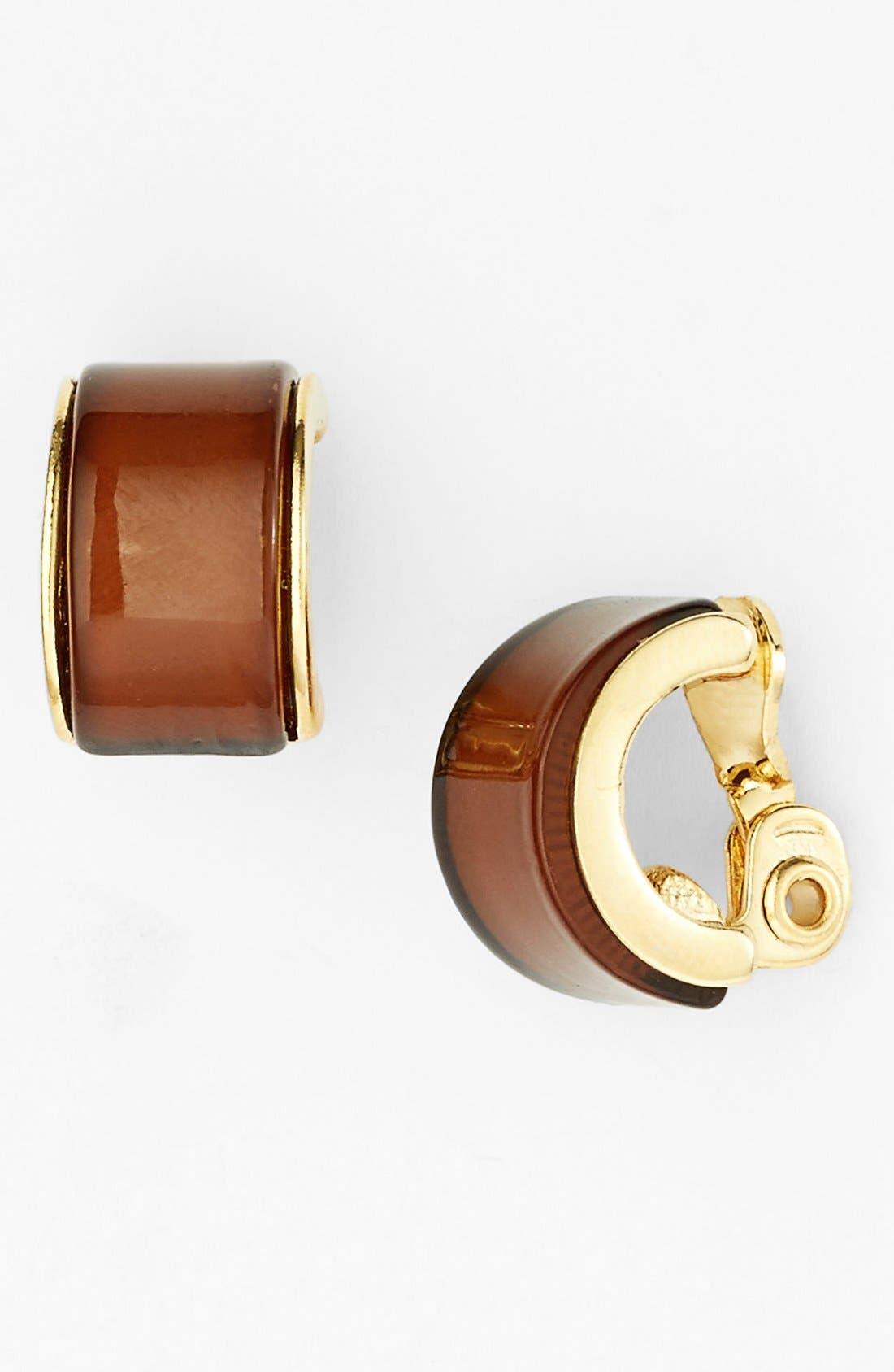 Alternate Image 1 Selected - Anne Klein Small Clip Hoop Earrings