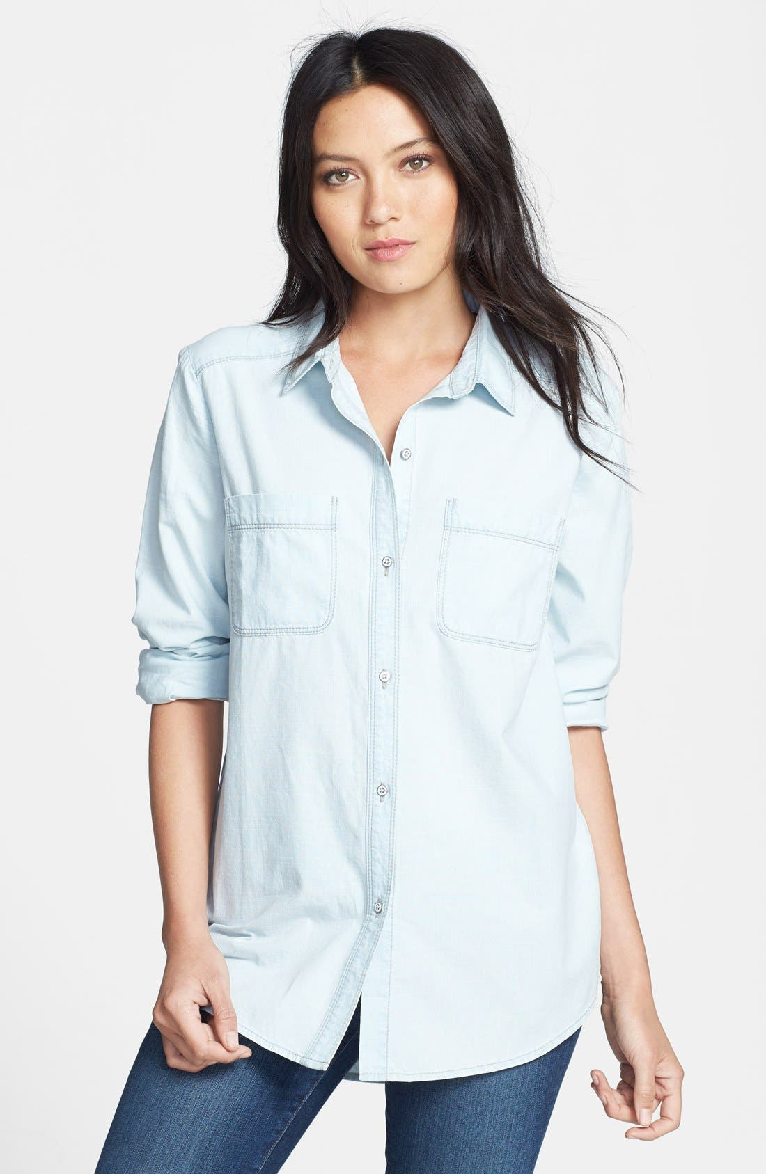 Main Image - Hinge® Boyfriend Chambray Shirt