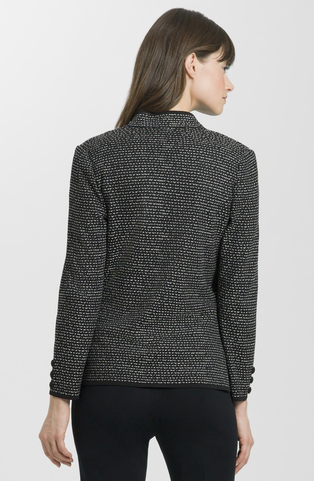 Alternate Image 2  - Ming Wang Contrast Panel Knit Jacket