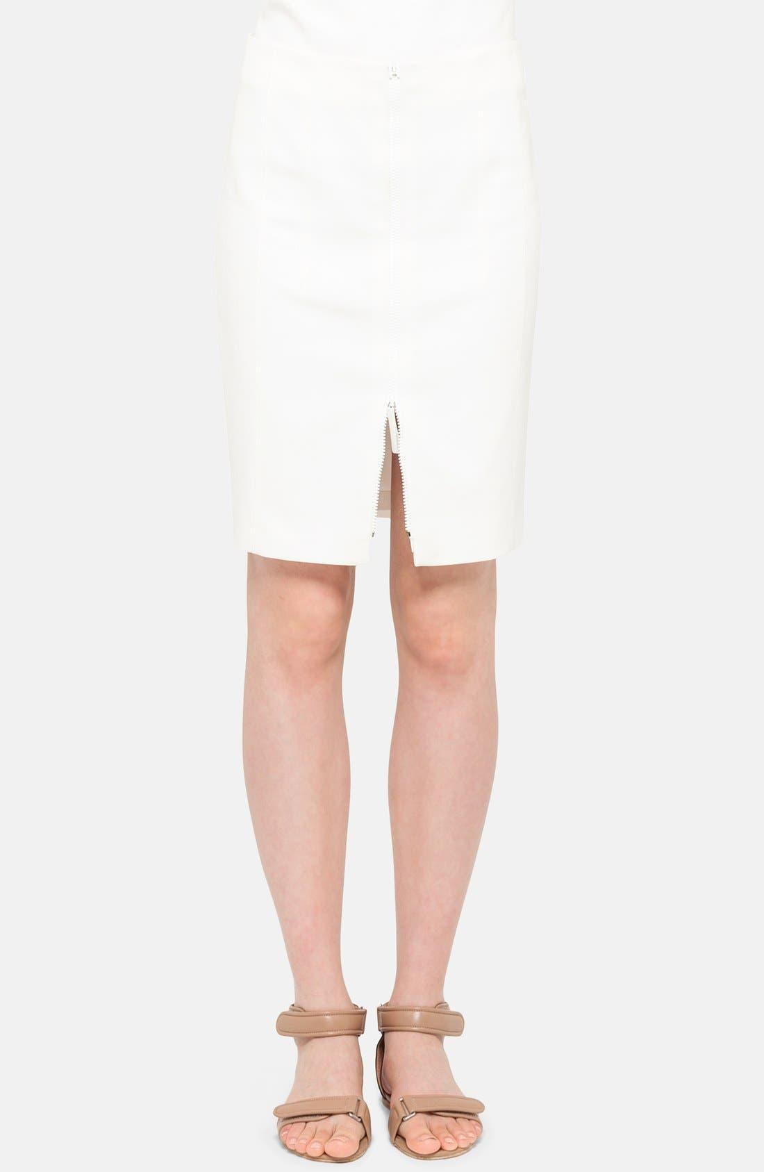 Alternate Image 1 Selected - Akris punto Front Zip Techno Skirt