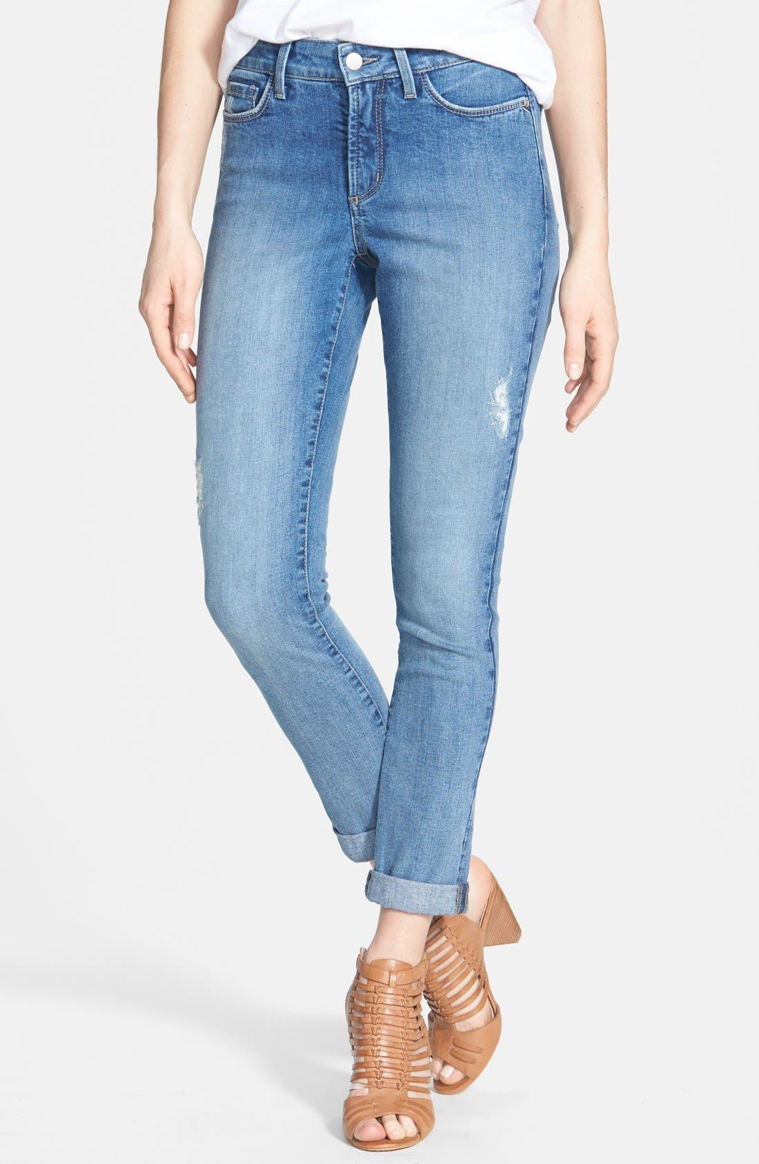 Alternate Image 1 Selected - NYDJ 'Anabelle' Stretch Skinny Jeans (Angora Lake) (Regular & Petite)