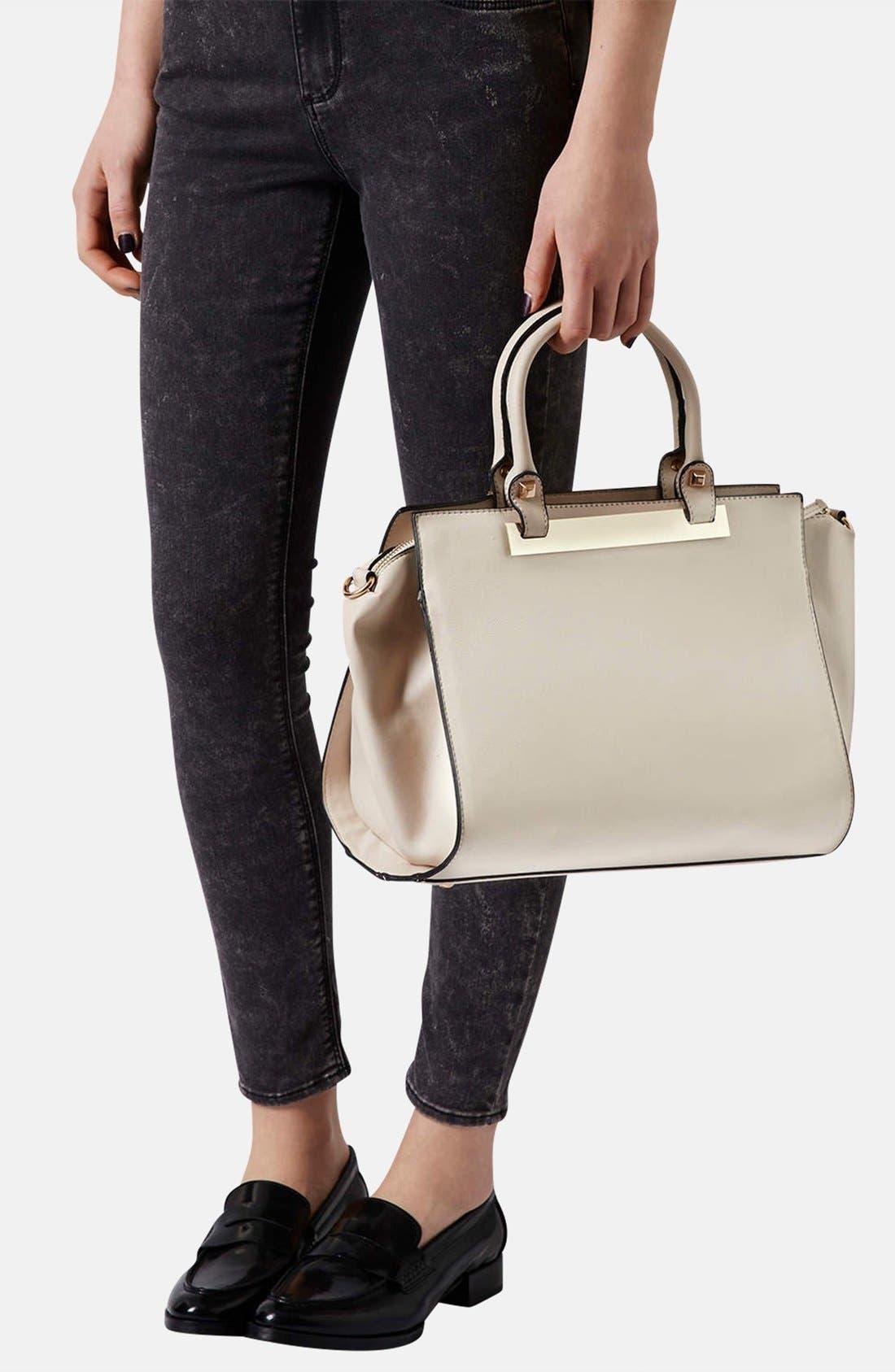 Alternate Image 2  - Topshop Faux Leather Handbag
