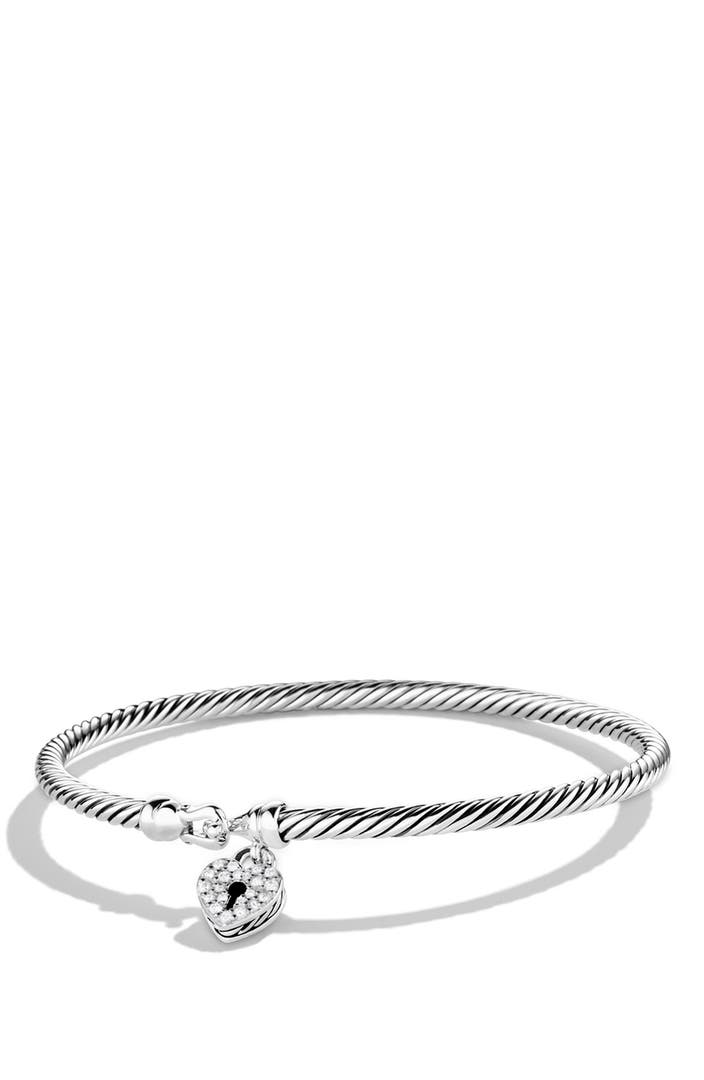 David Yurman Cable Collectibles Heart Lock Bracelet With