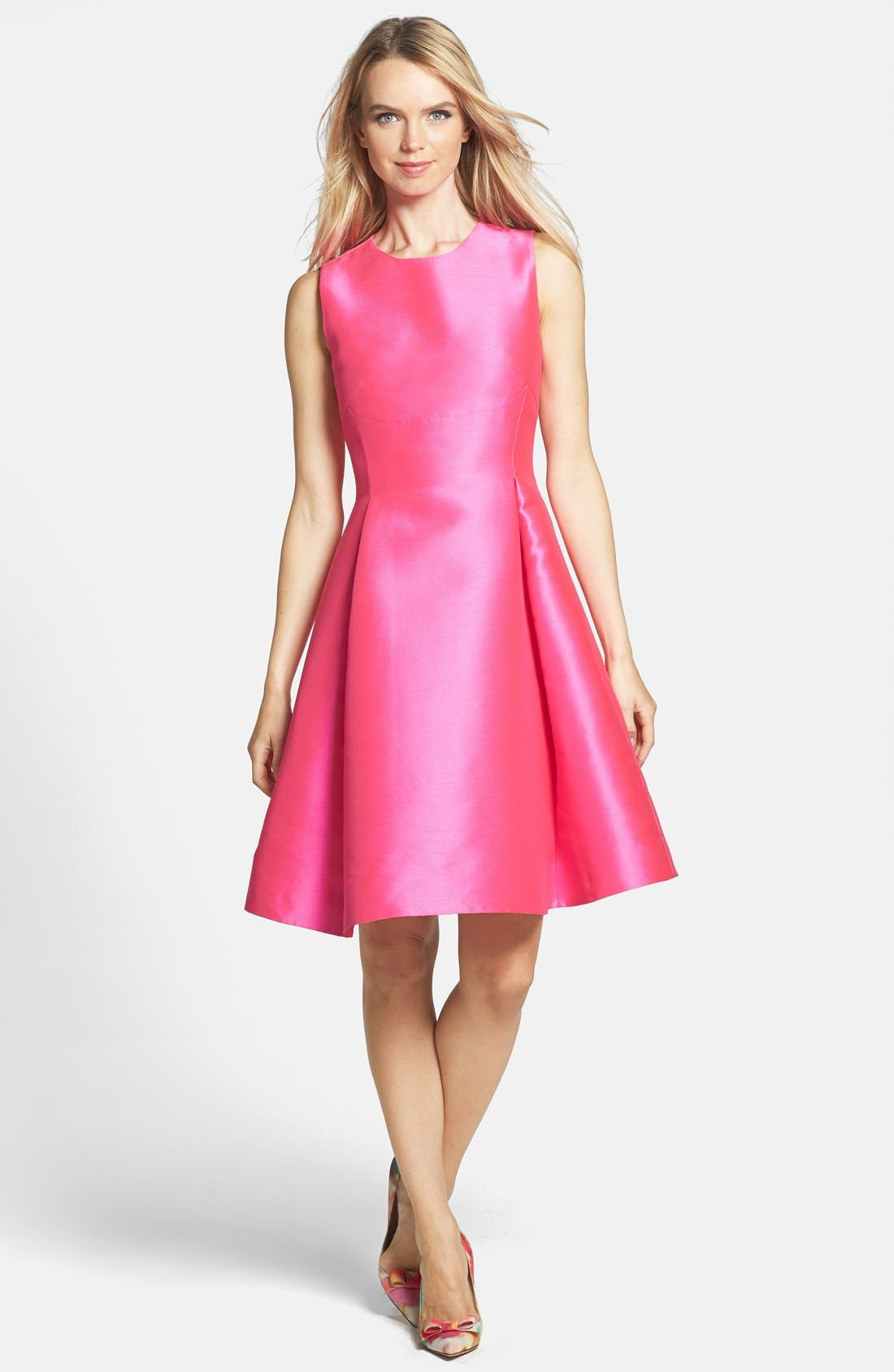 Main Image - kate spade new york 'roset' woven fit & flare dress