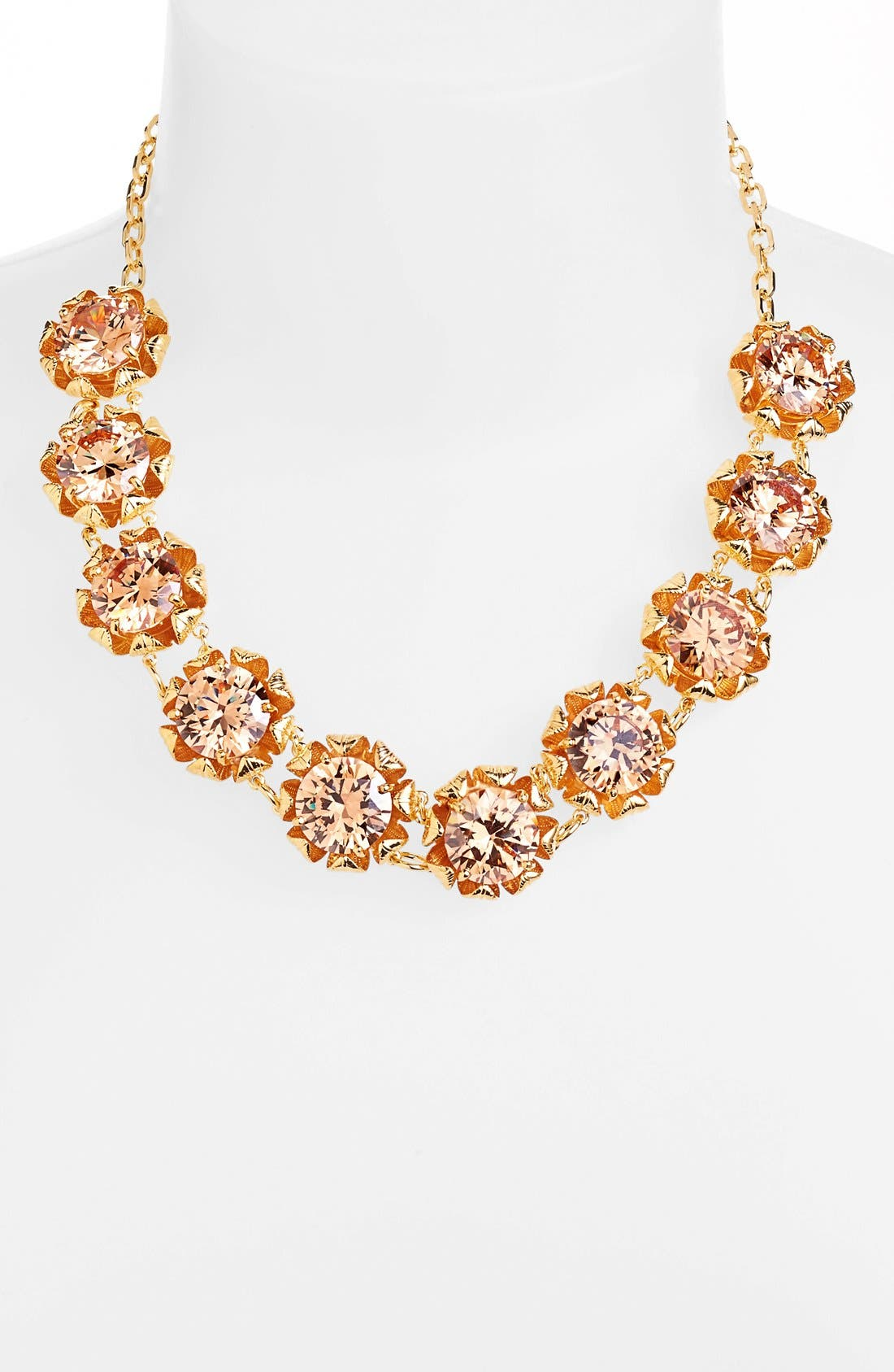 Main Image - Tory Burch 'Leah' Crystal Floral Necklace