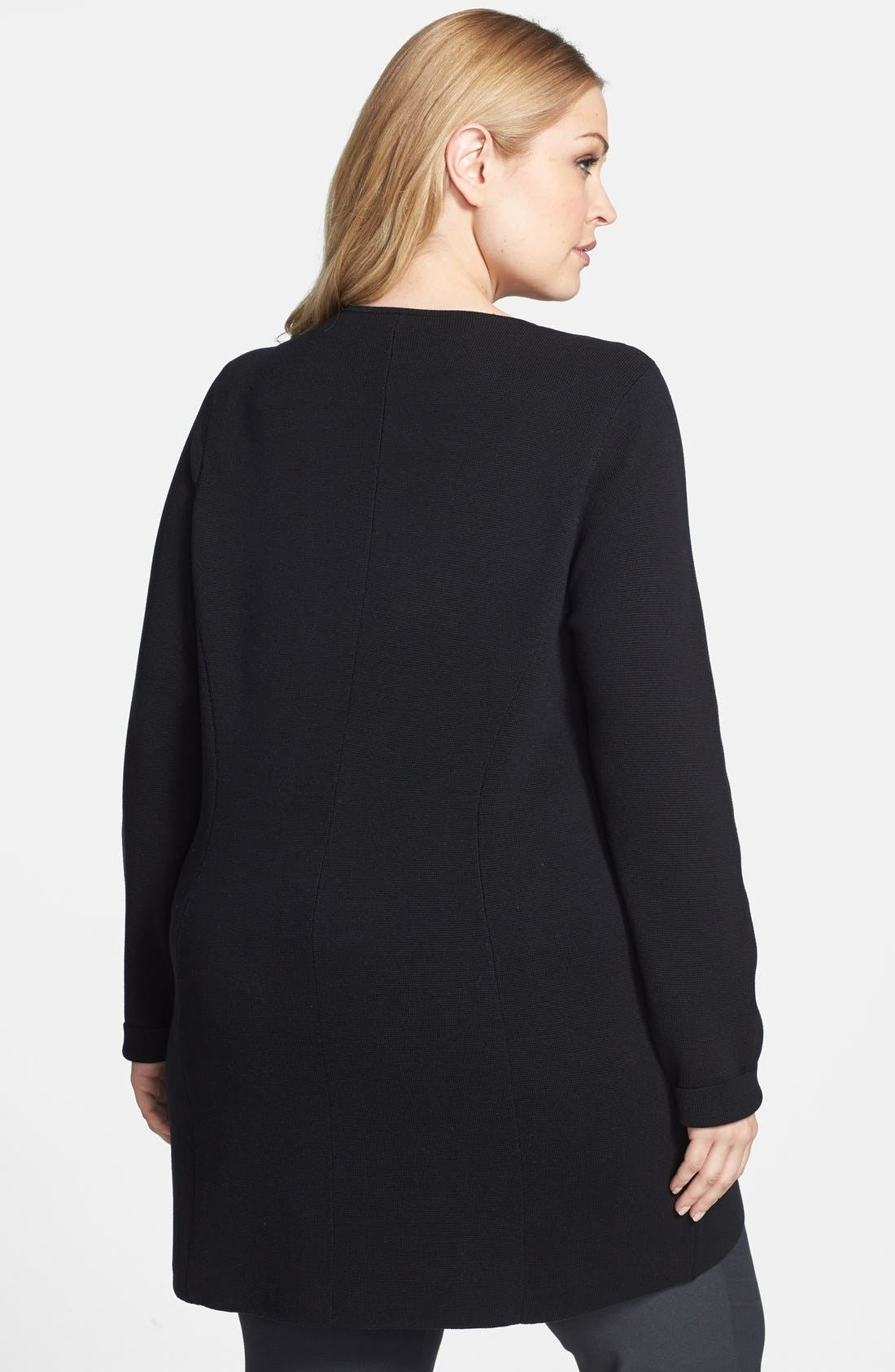 Alternate Image 2  - Eileen Fisher Tunic Length Jacket (Plus Size)