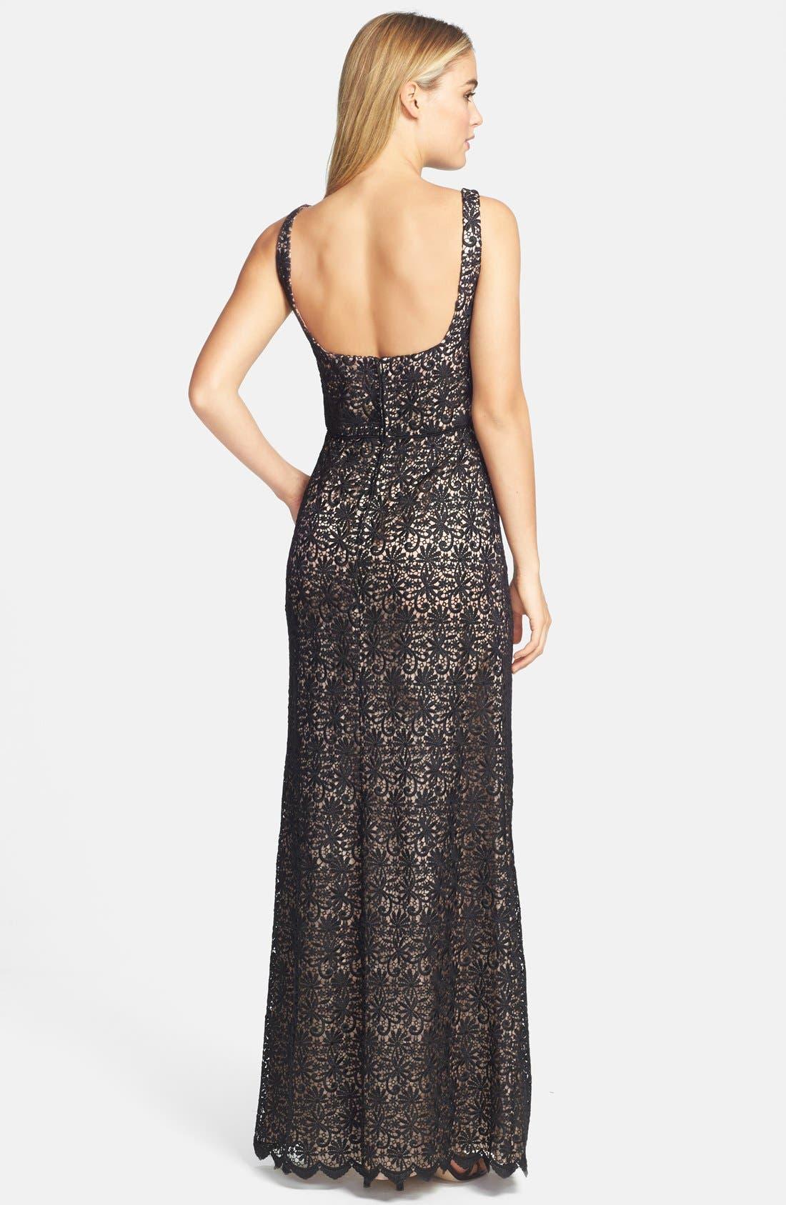Alternate Image 2  - Jill Jill Stuart Venise Lace Column Gown