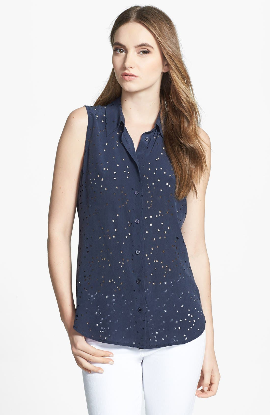 Alternate Image 1 Selected - Equipment 'Colleen' Star Cutout Silk Shirt