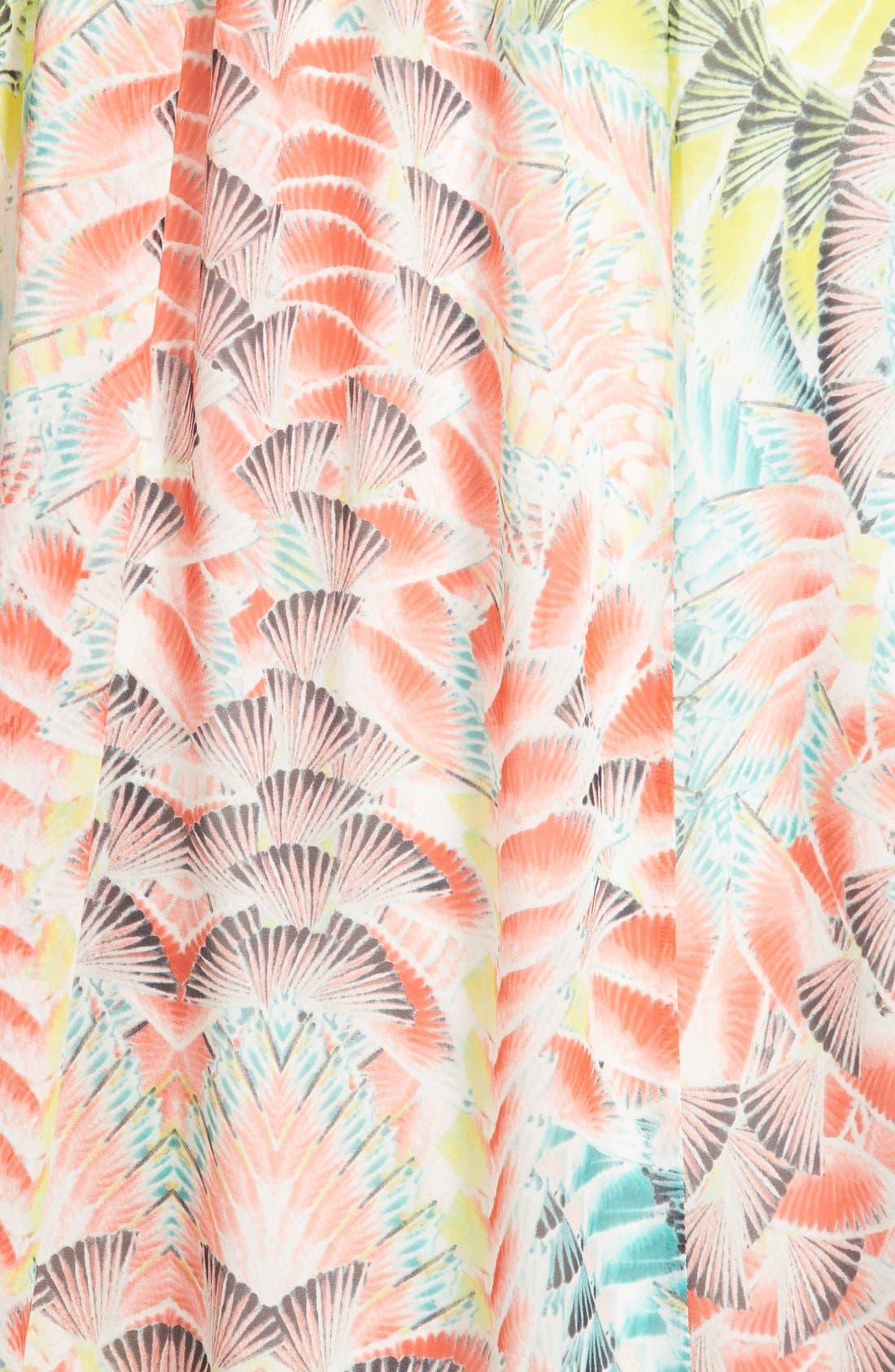 Alternate Image 3  - BCBGMAXAZRIA Print One-Shoulder Silk Chiffon Maxi Dress