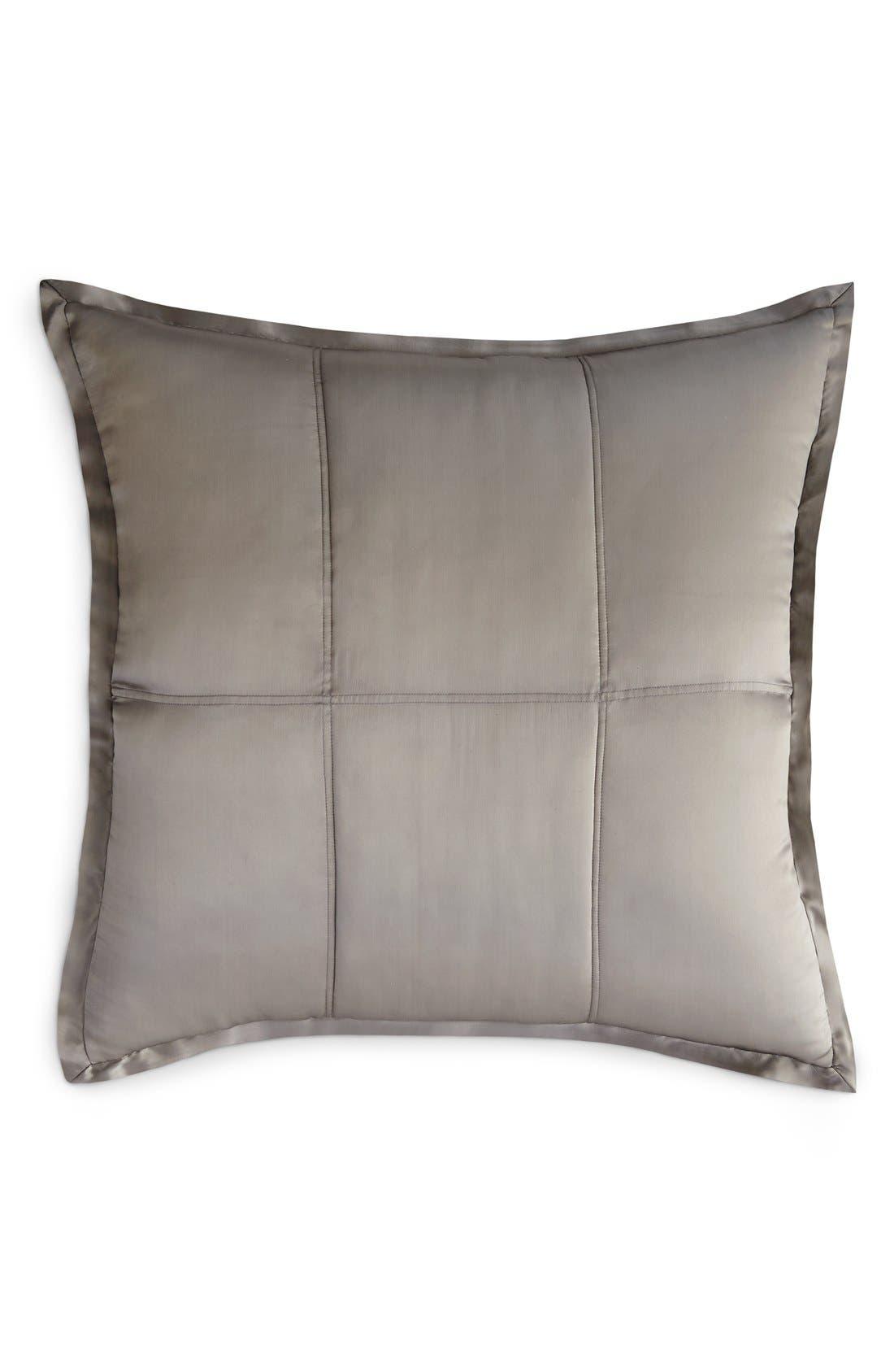 Donna Karan Collection 'Reflection' Euro Sham,                         Main,                         color, Silver