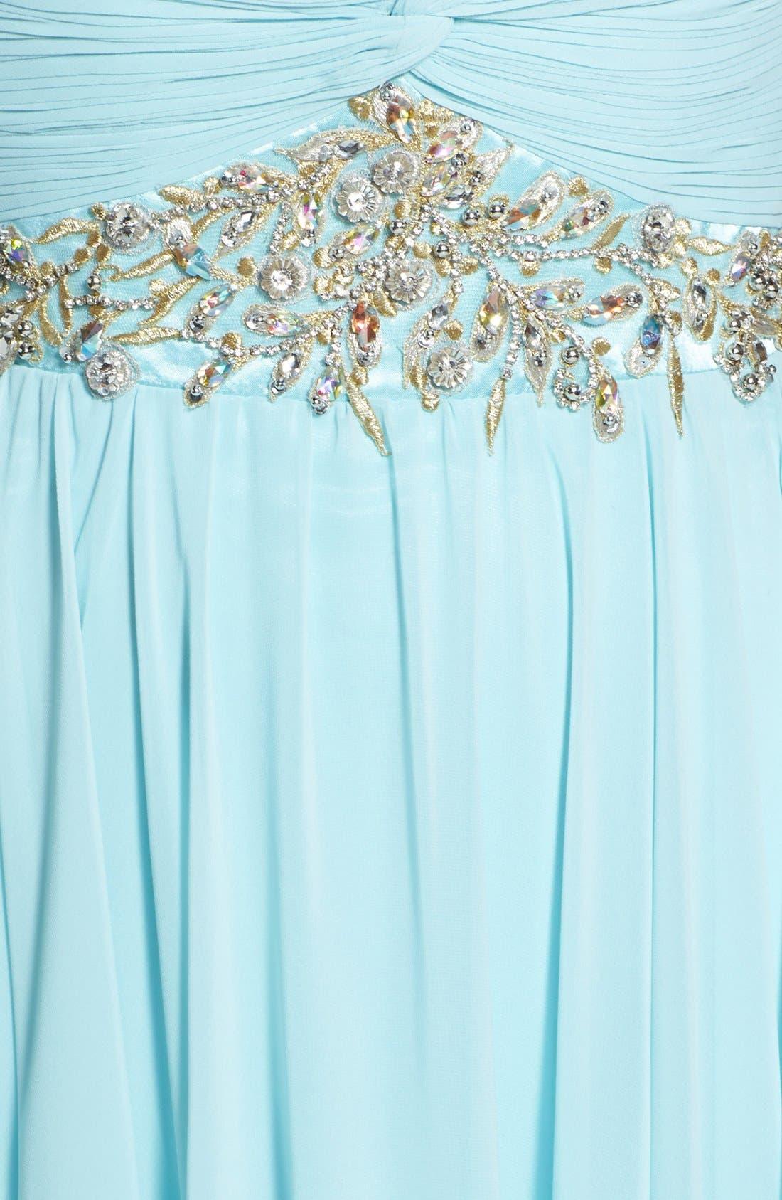 Alternate Image 3  - Sherri Hill Embellished Strapless Chiffon Gown