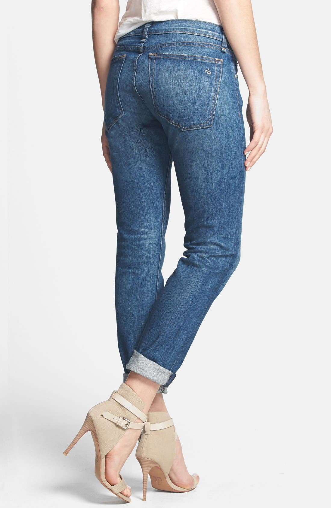 Alternate Image 2  - rag & bone/JEAN 'The Dre' Slim Fit Boyfriend Jeans (Bradford)