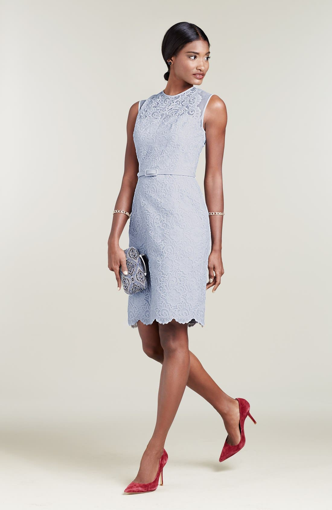 Alternate Image 1 Selected - Maggy London Sheath Dress & Accessories