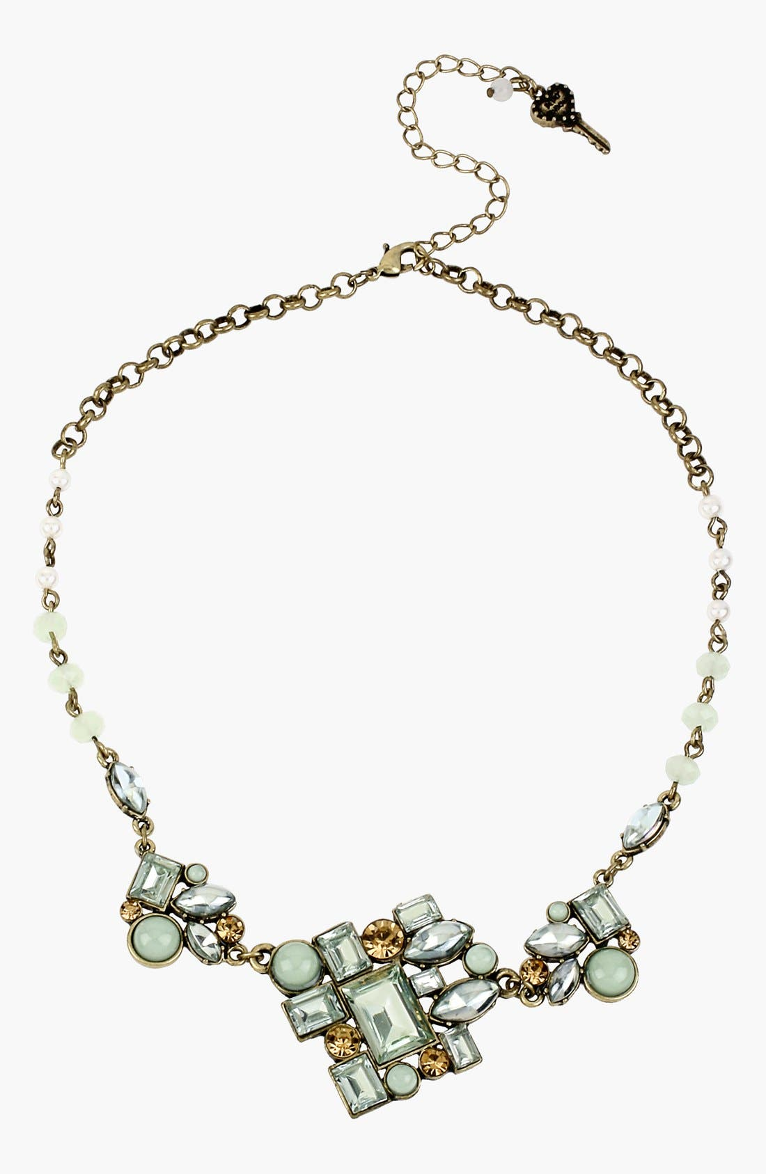 Alternate Image 1 Selected - Betsey Johnson 'Mint Multi' Frontal Necklace