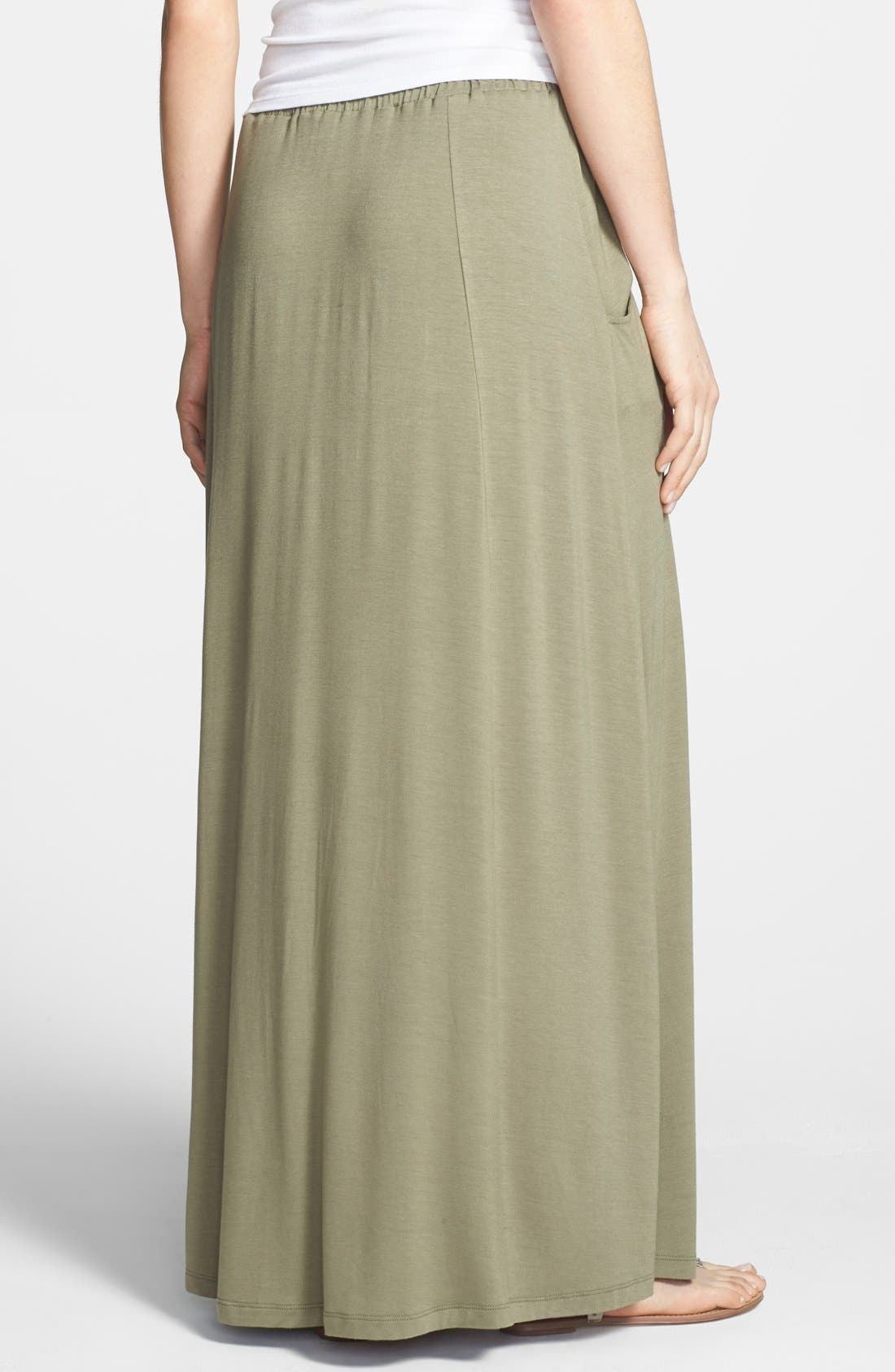 Alternate Image 2  - Pleione Pocket Knit Maxi Skirt