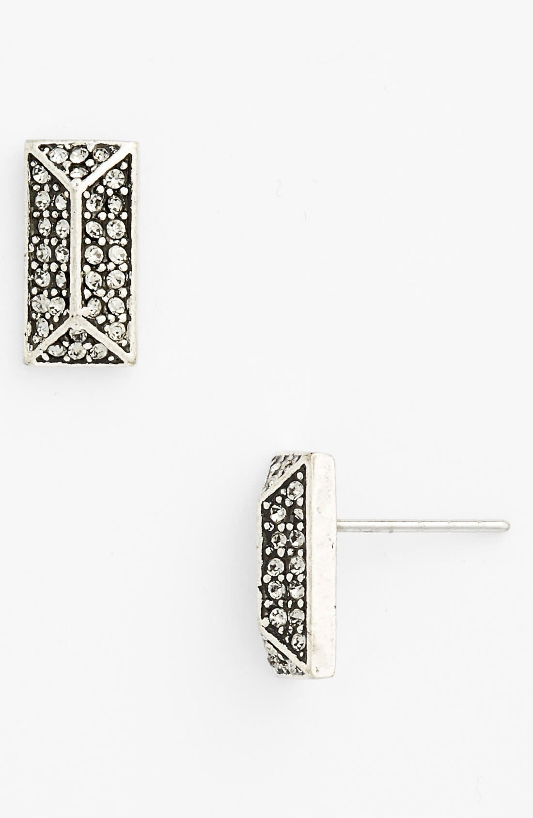 Alternate Image 1 Selected - Rebecca Minkoff 'Jewel Box' Brick Spike Stud Earrings