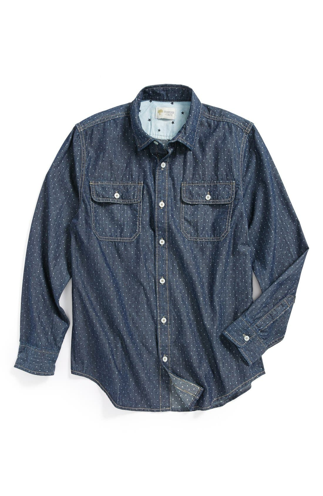 Alternate Image 1 Selected - Tucker + Tate 'Anker' Chambray Sport Shirt (Big Boys)