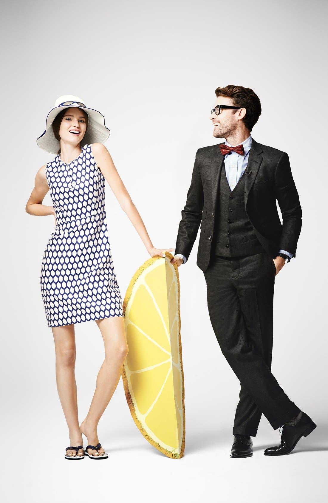 Alternate Image 5  - kate spade new york 'emrick' print cotton blend sheath dress