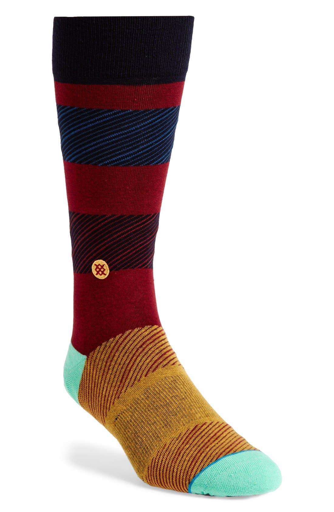 'Wagner' Socks,                         Main,                         color, Dark Red