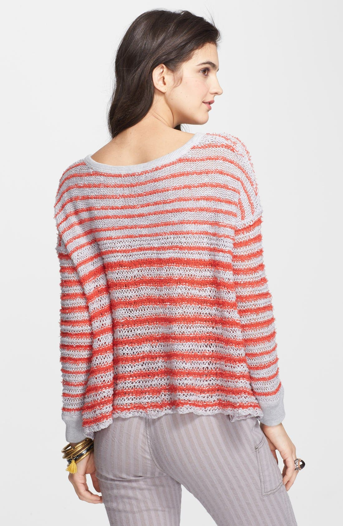 Alternate Image 2  - Free People Lace-Up Stripe Pullover