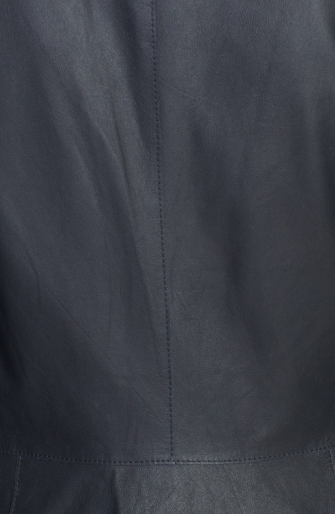 Alternate Image 3  - Vince 'Paper' Draped Leather Jacket