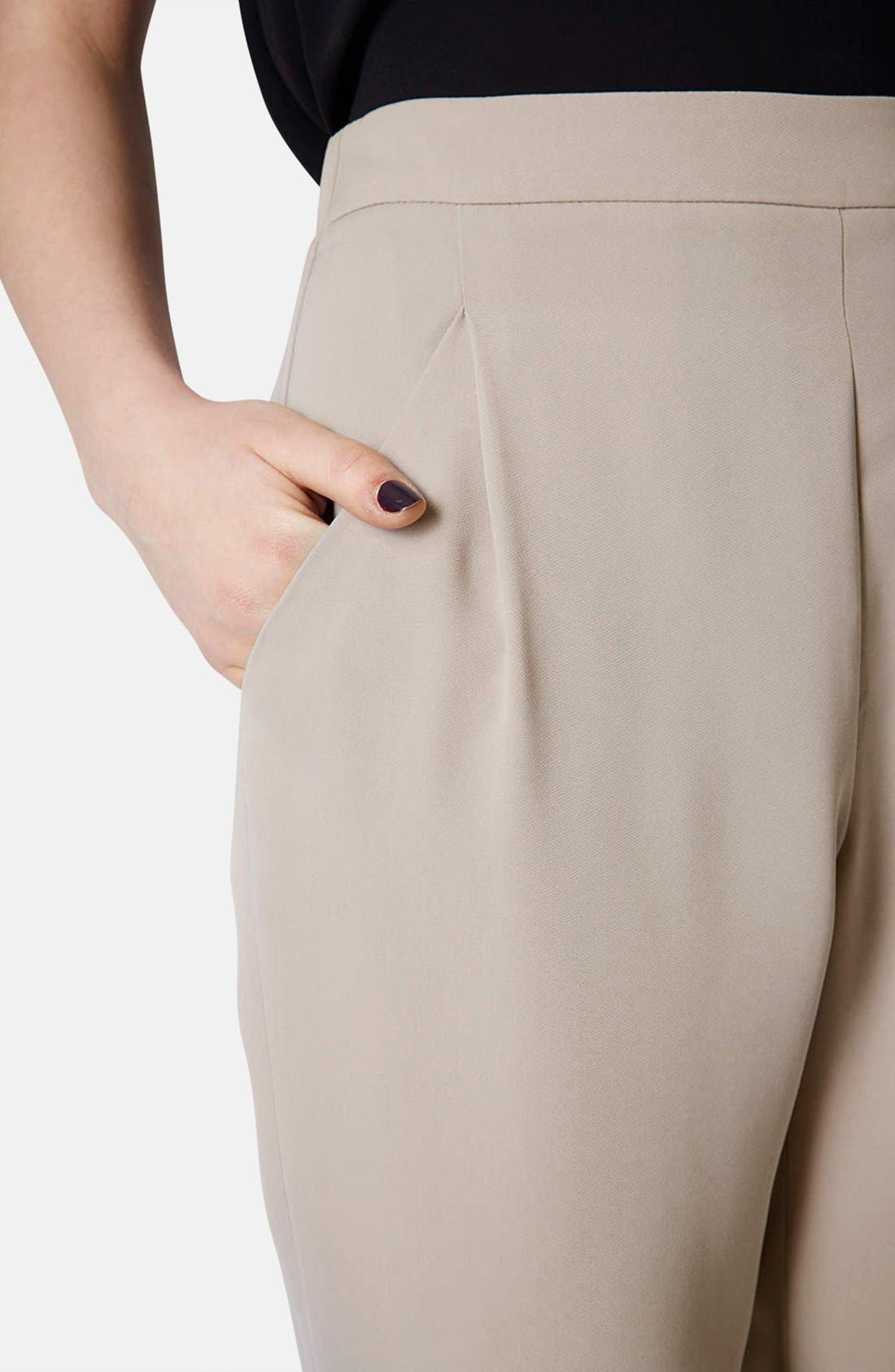 Tapered Crepe Track Pants,                             Alternate thumbnail 4, color,                             Taupe