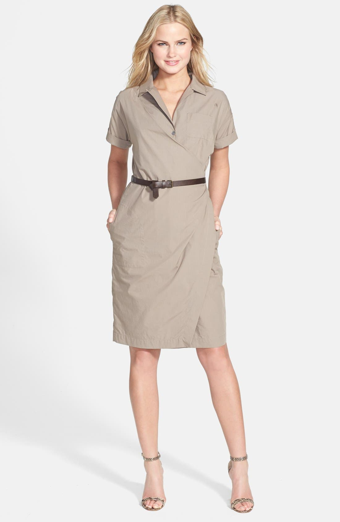 Alternate Image 1 Selected - Weekend Max Mara 'Colle' Faux Wrap Shirtdress