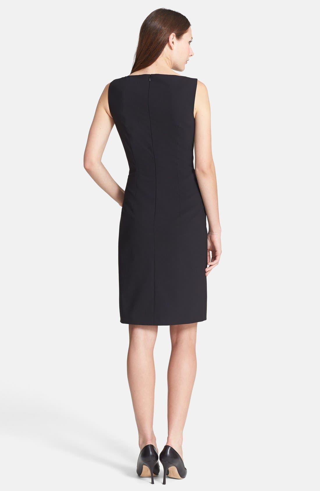 Alternate Image 2  - BOSS 'Dinoma' Stretch Wool Sheath Dress