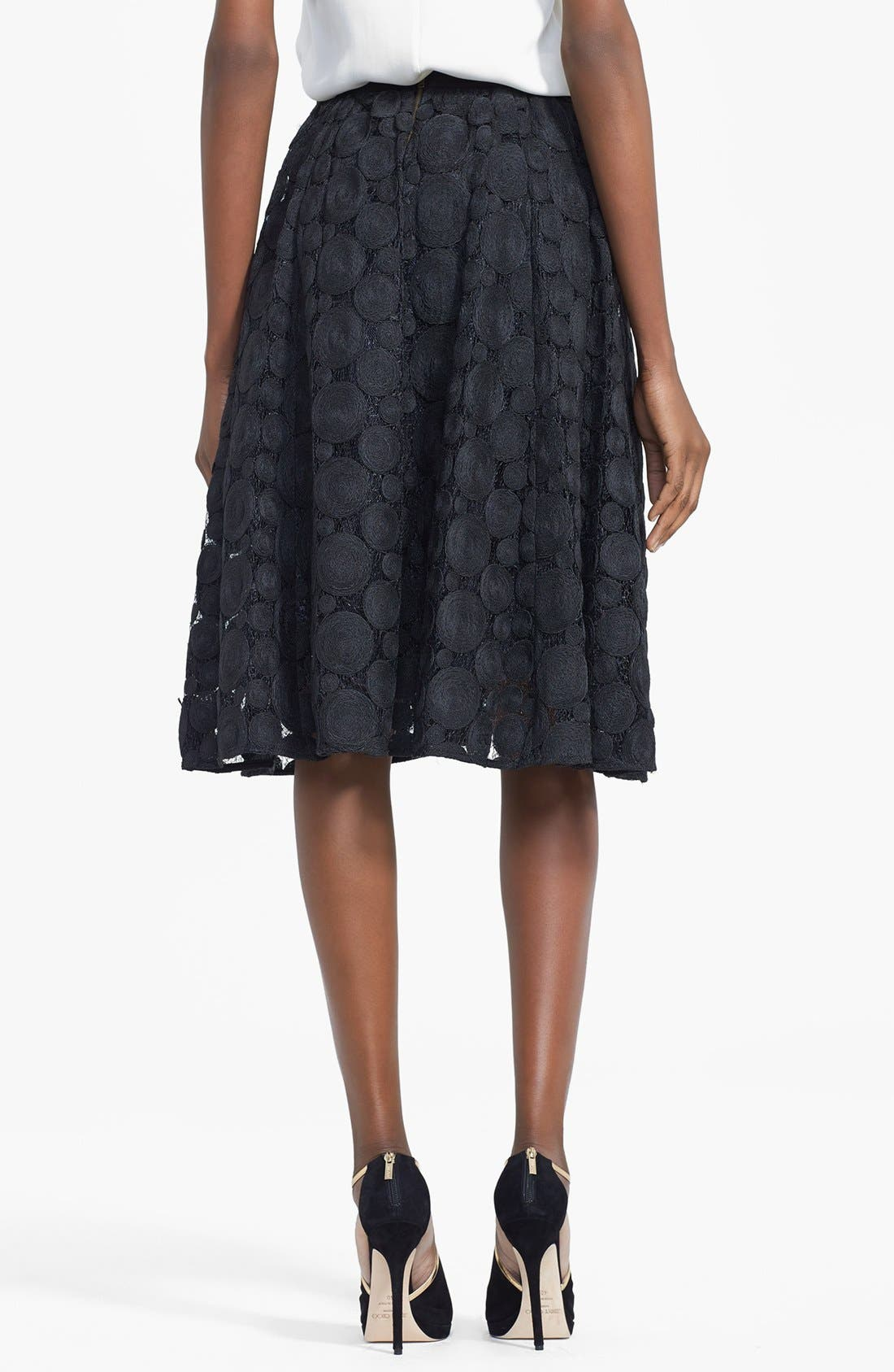 Alternate Image 2  - Tracy Reese Raffia Circle Lace Skirt