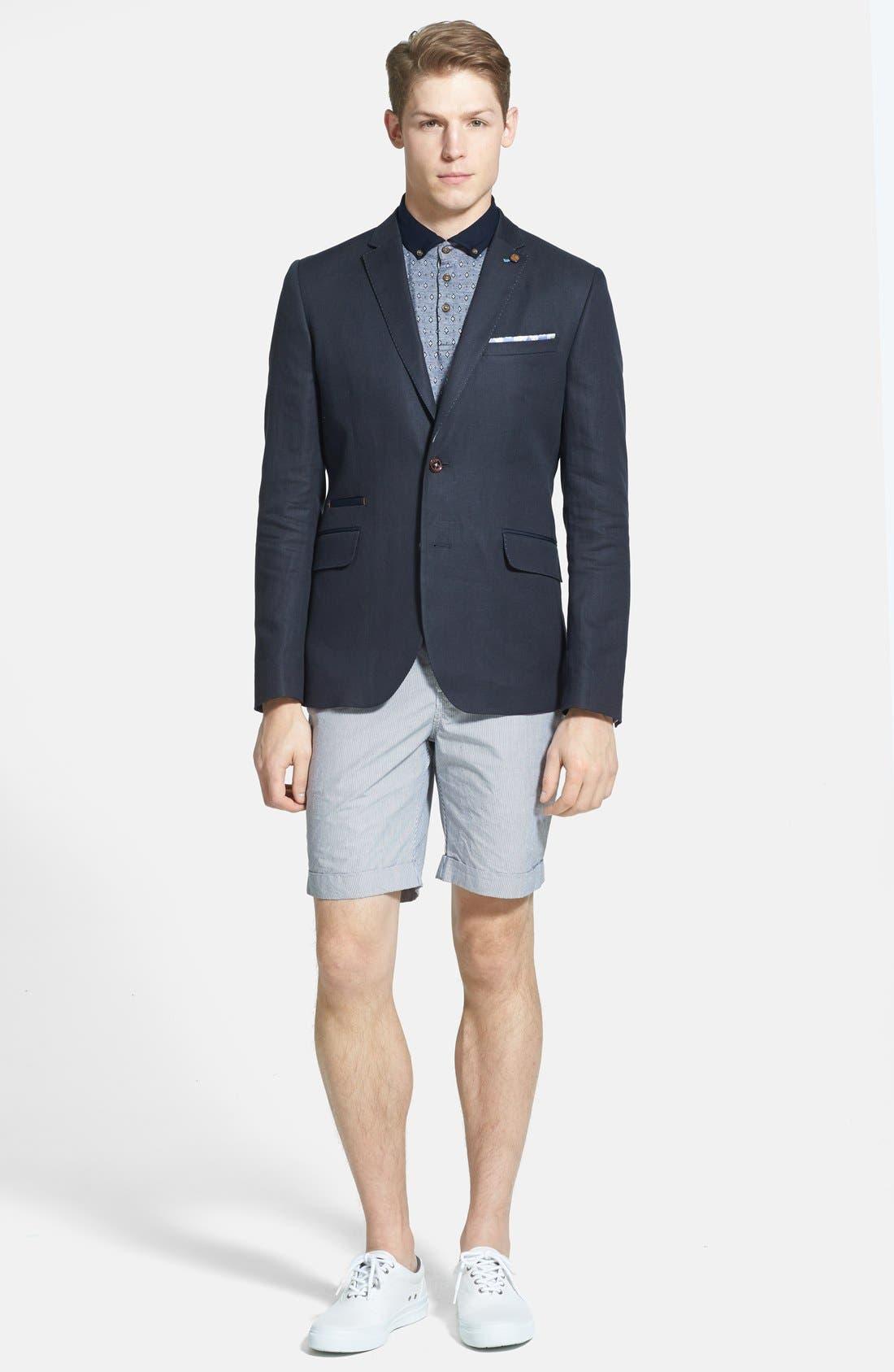 Alternate Image 4  - Ted Baker London 'Staddle' Slim Fit Stripe Shorts