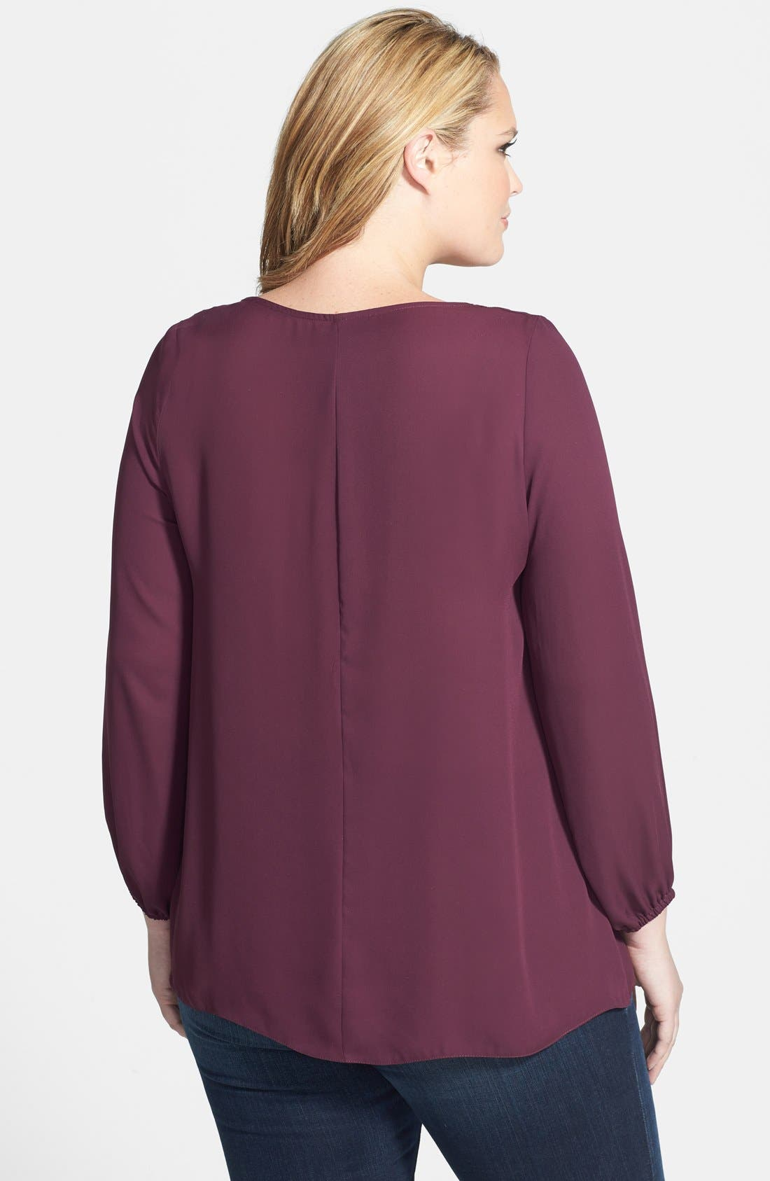 Alternate Image 2  - Evans Embellished Collar Blouse (Plus Size)