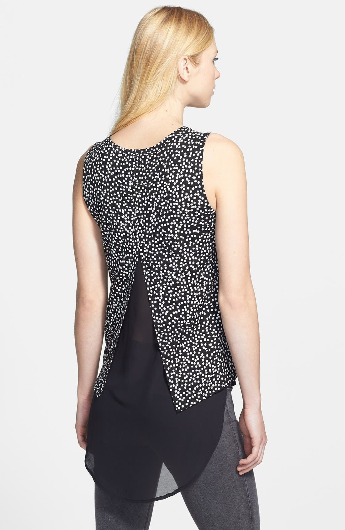 Alternate Image 2  - Two by Vince Camuto 'Speckle Dot' Double Layer Tank