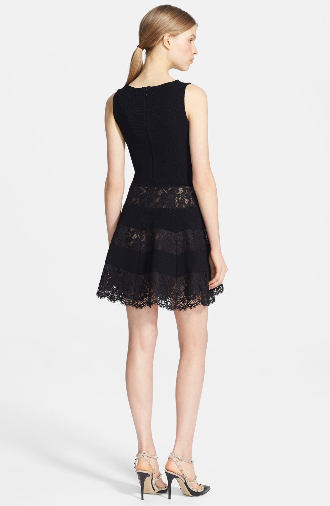 Alternate Image 2  - Valentino Lace Inset Ottoman Dress