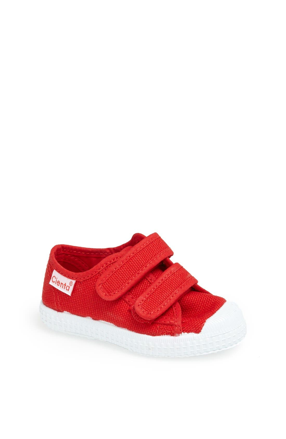 Canvas Sneaker,                             Main thumbnail 1, color,                             Red