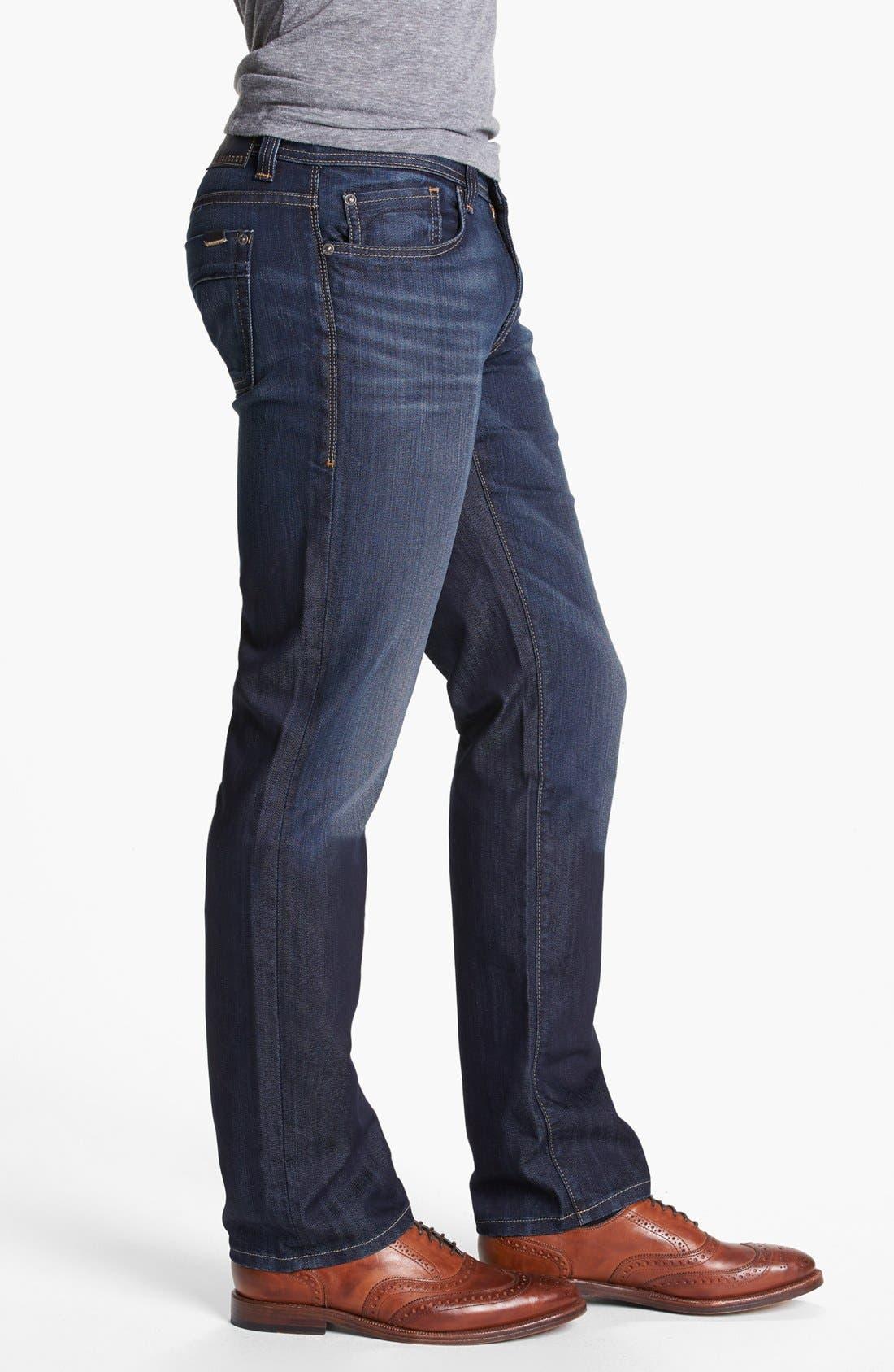 Alternate Image 3  - Fidelity Denim 'Slim Jim' Slim Fit Jeans (Trigger Dark) (Tall)