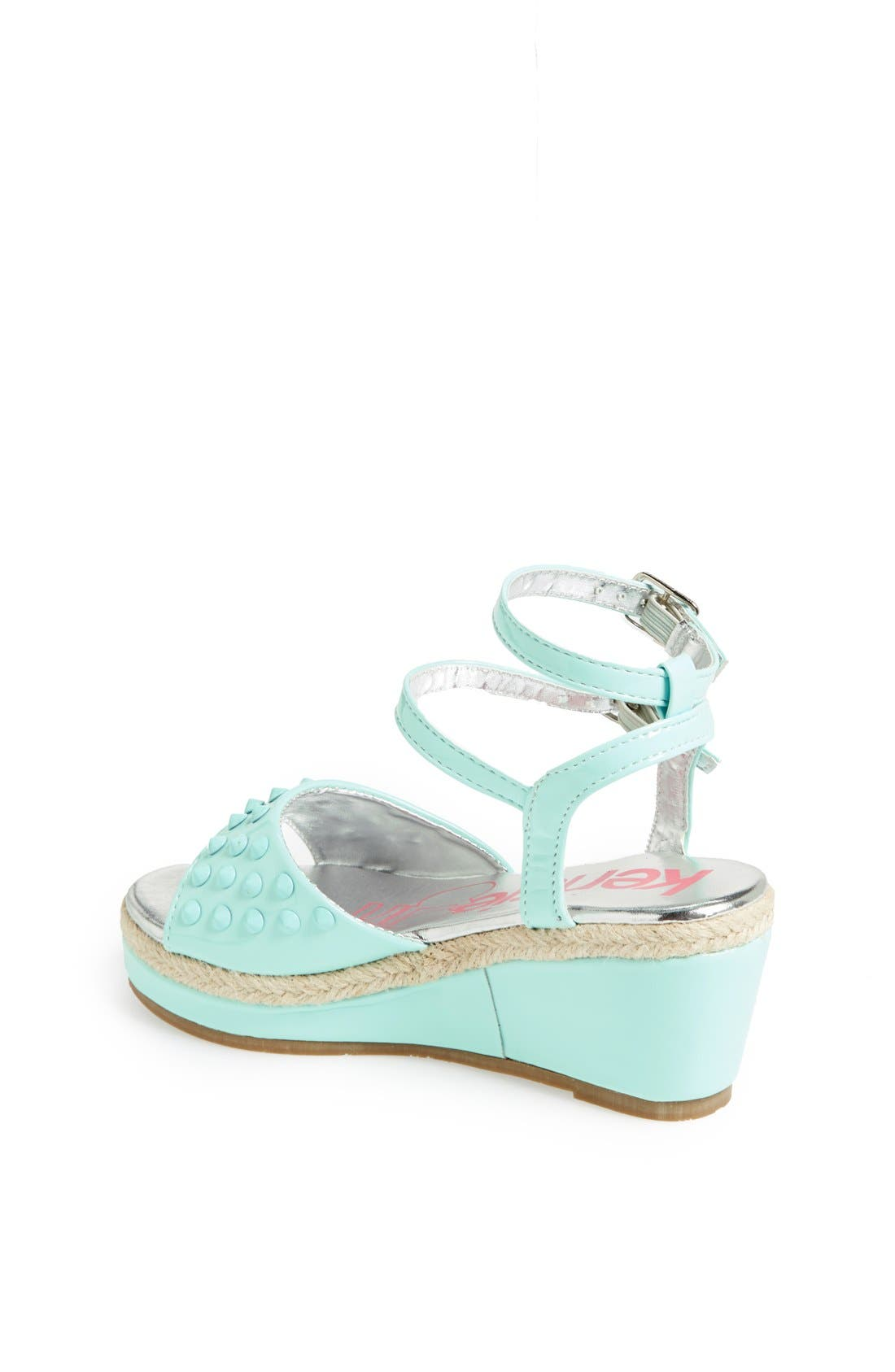 Alternate Image 2  - kensie girl Studded Wedge Sandal (Toddler, Little Kid & Big Kid)