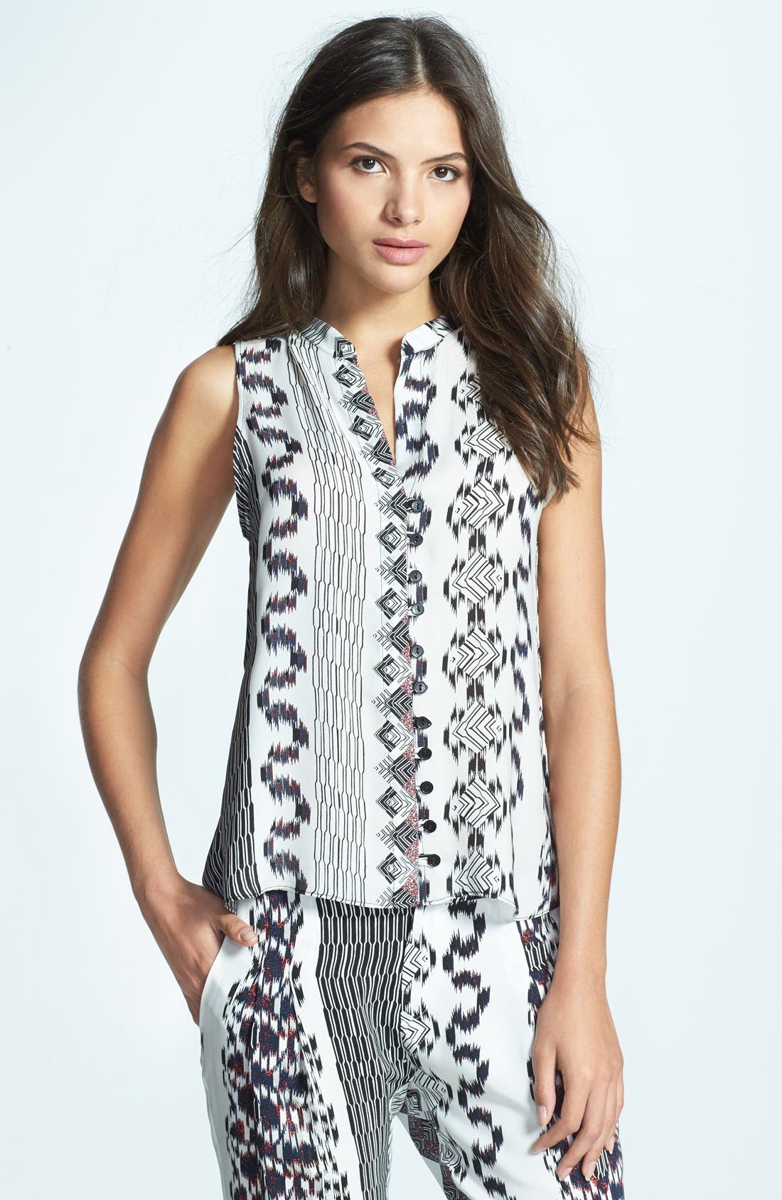 Main Image - Parker 'Brooklyn' Print Silk Top