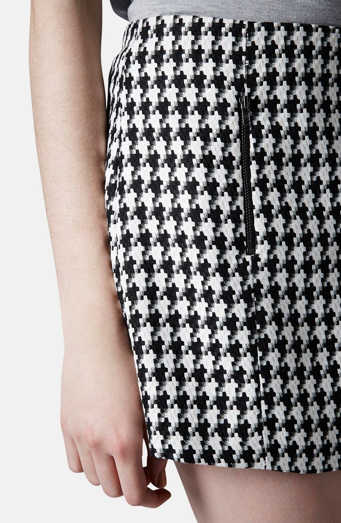 Alternate Image 4  - Topshop Zip Detail Houndstooth Skirt