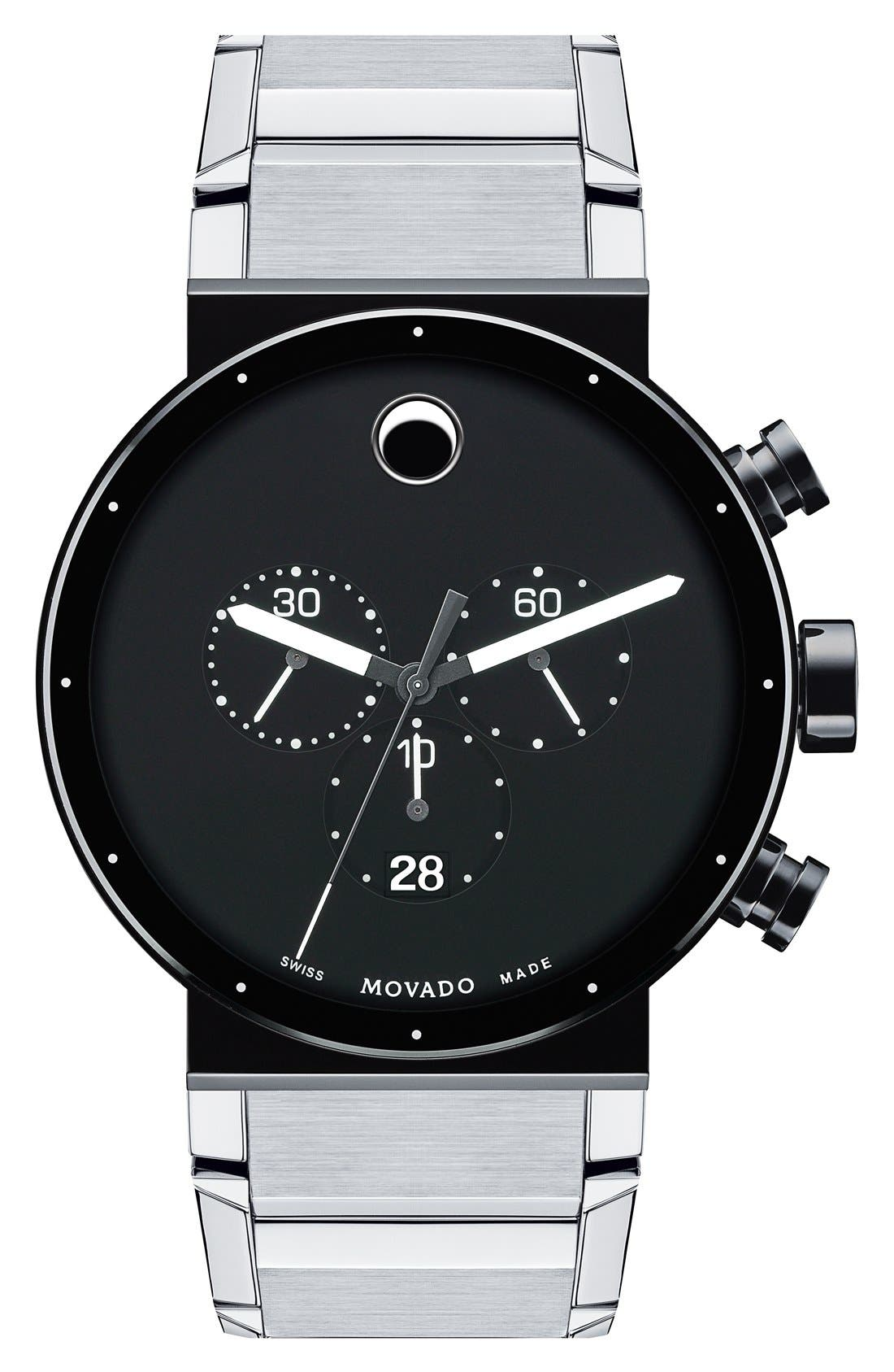 Main Image - Movado 'Sapphire Synergy' Chronograph Bracelet Watch, 42mm