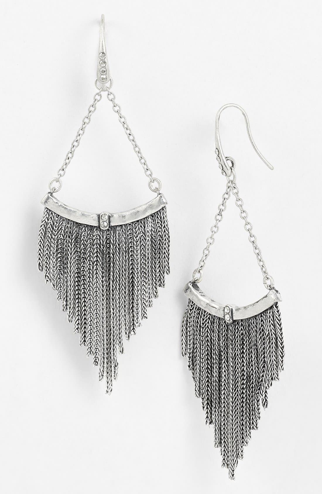 Main Image - Rebecca Minkoff 'Earth Eclectic' Fringe Chandelier Earrings