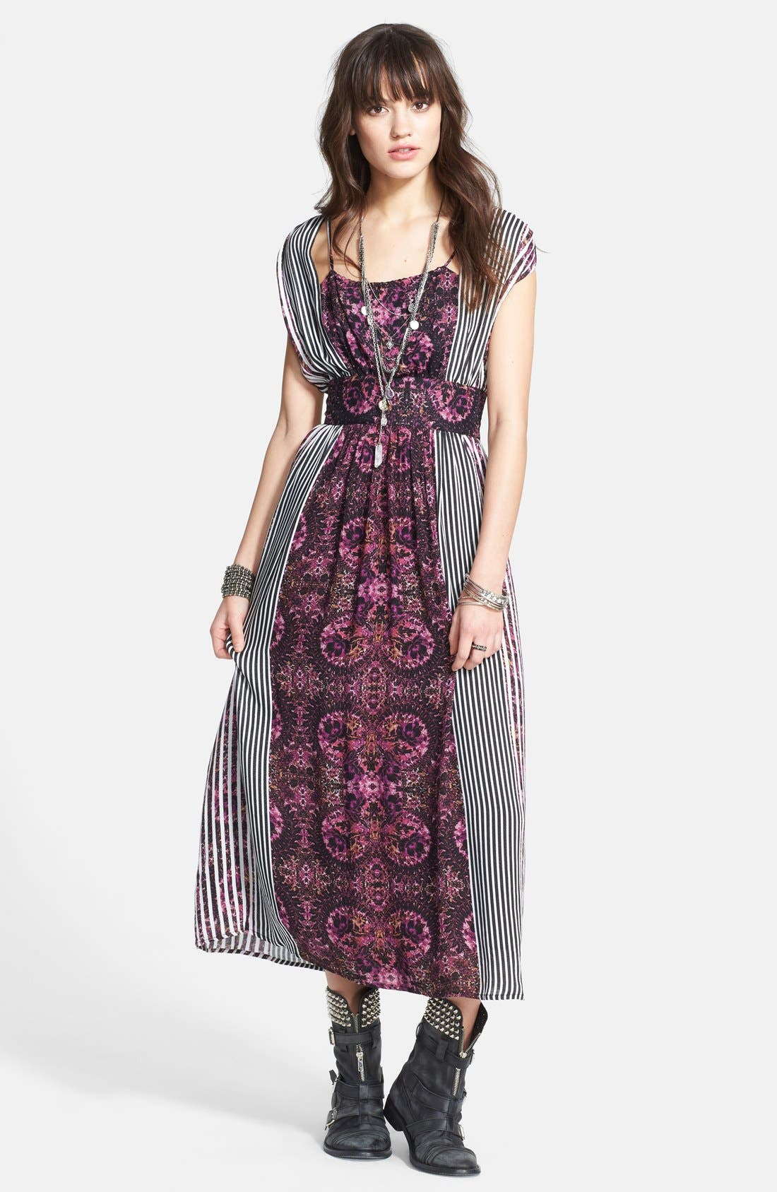 Alternate Image 1 Selected - Free People 'Mayan Temple' Mix Print Midi Dress