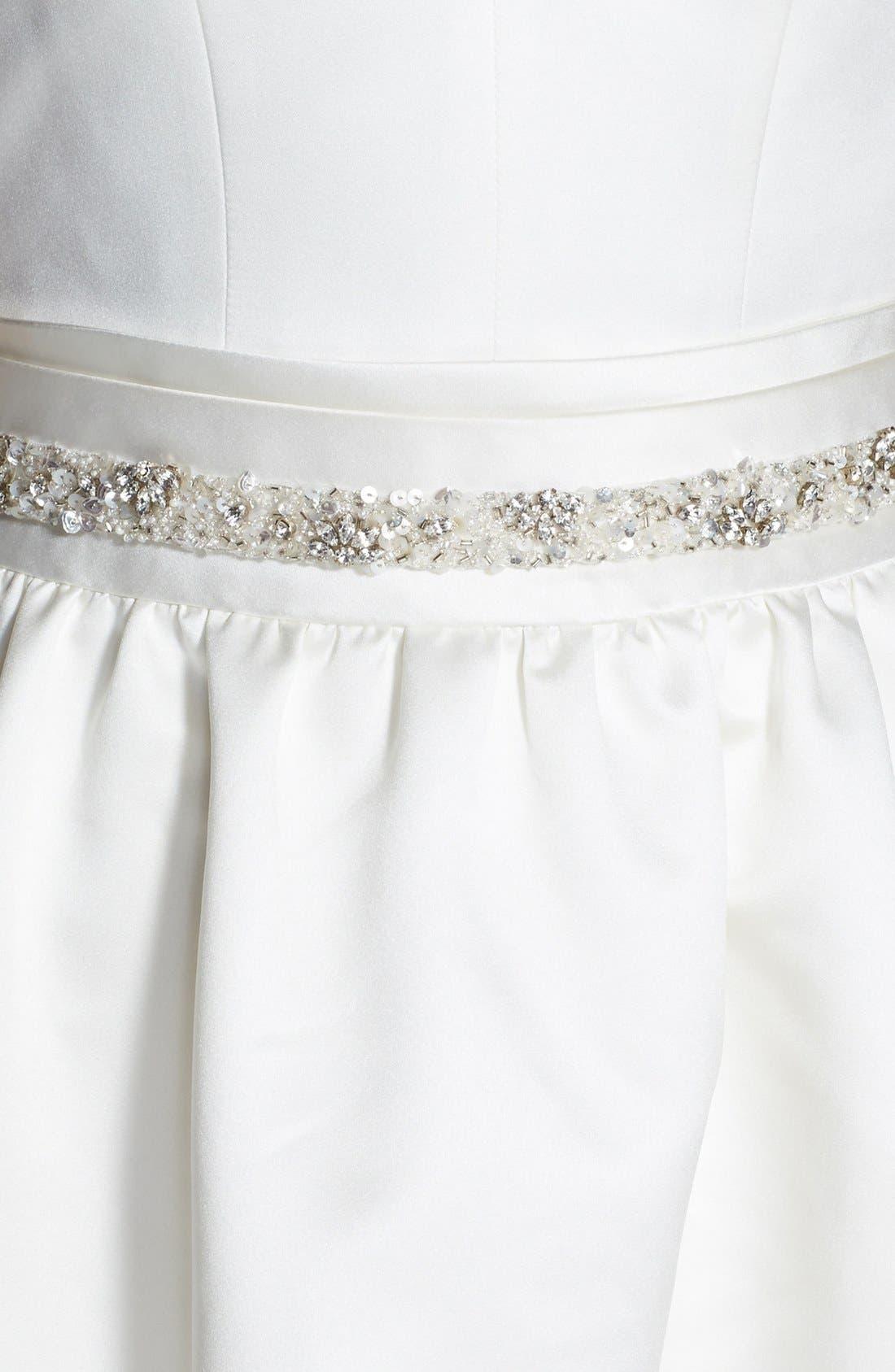 Alternate Image 3  - Jesús Peiró Satin Dress with Embellished Waist Overskirt