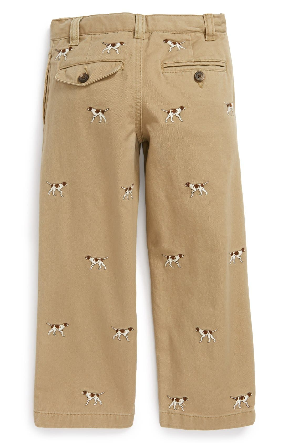 Alternate Image 2  - Ralph Lauren Embroidered Straight Leg Pants (Toddler Boys)