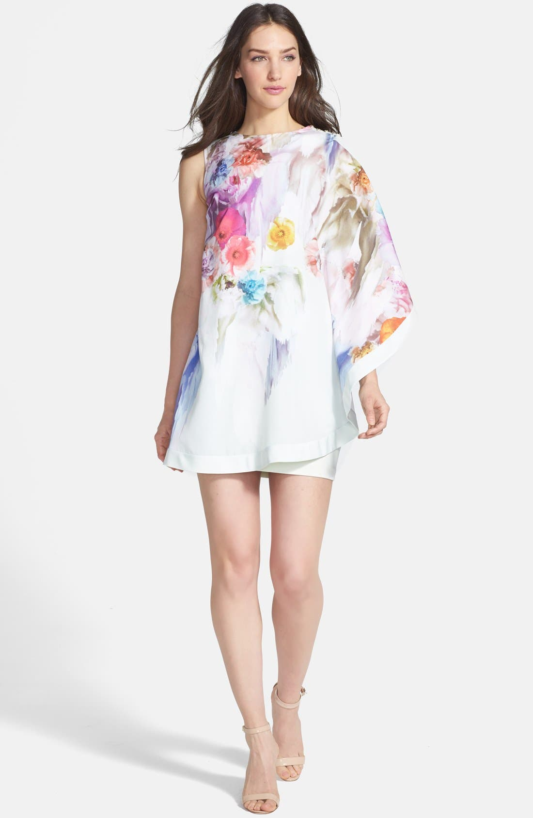 Alternate Image 1 Selected - Ted Baker London 'Sugar Sweet' Floral Tunic Dress
