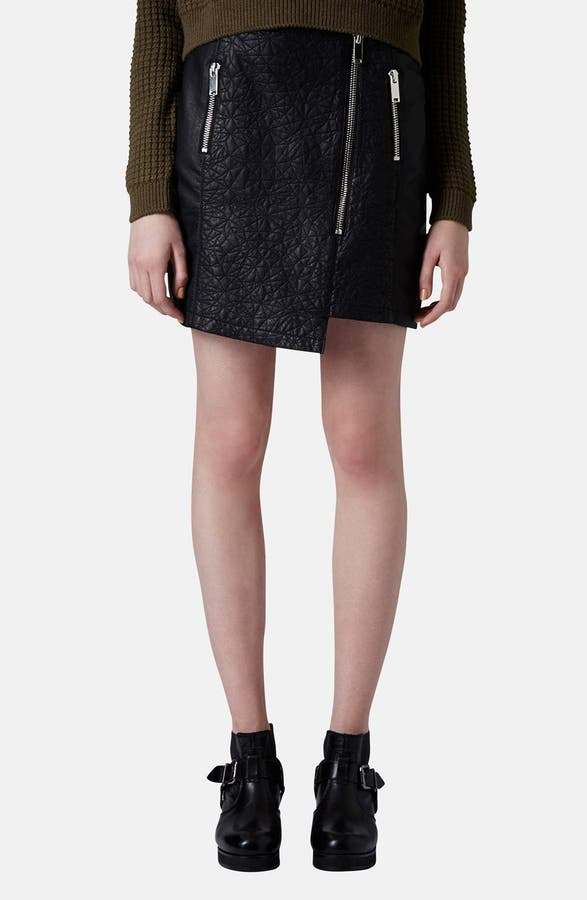 Topshop Quilted Asymmetrical Faux Leather Skirt | Nordstrom : quilted leather skirt - Adamdwight.com